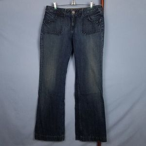 Banana Republic Distressed Dark Wash Denim Jeans